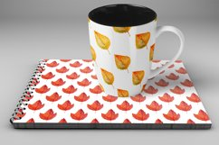 Watercolor Autumn leaves patterns Product Image 2