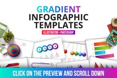 Gradient infographics templates Product Image 3