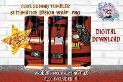 20oz| Red Fireman | Sublimation Tumbler Wrap| Seamless Product Image 1