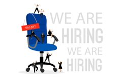 Hiring concept with office chair. Hire professional people s Product Image 1