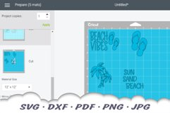 Beach Vibes Stamps SVG Bundle | Beach DXF Cut Files Product Image 2