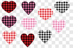 Valentine's Day Buffalo Plaid Hearts Product Image 2