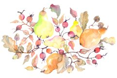 Branch of pears Watercolor png Product Image 1