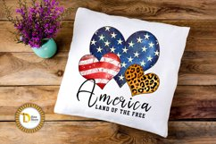 4th of July Sublimation Quote -Leopard print Heart Product Image 3