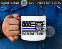 Police Officer Retirement, Cop Retiree, Law Retired SVG PNG Product Image 3