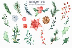 Christmas bull Watercolor Clipart Product Image 6
