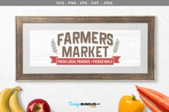 Farmers Market Fresh Local Produce - svg & printable Product Image 1