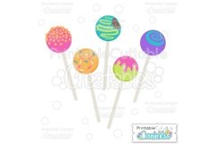 Birthday Cake Pops SVG Cut File & Clipart