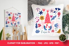 Valentine PNG Valentines Sublimation Gnome PNG Product Image 5