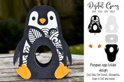 Penguin Easter egg holder design SVG / DXF / EPS Product Image 1