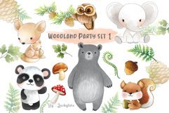 Woodland party clipart set 1 Product Image 1