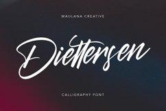 Diettersen Script Calligraphy Font Product Image 1