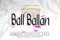 Ball Ballan - Modern Typeface Product Image 1