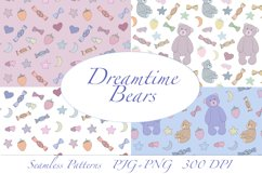 Dreamtime Bears - Doodle Style patterns, JPG, PNG Product Image 1