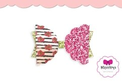 Scalloped Half Bow|Hair Bow SVG|Cricut Silhouette Bow Product Image 4