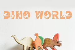 Dino World - Dinosaur Font Product Image 1