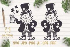 St. Patricks day svg, Leprechaun, Leprechaun with Beer Mug Product Image 1