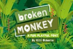 Broken Monkey - playful font Product Image 1