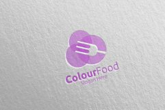 Color Food Logo for Restaurant or Cafe 67 Product Image 5