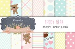 Pink Bear Baby Girl Baby Shower, Teddy Bear Pink blue yellow Product Image 1