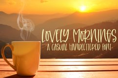 Lovely Mornings - A Casual Handlettered Font Product Image 1