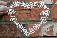 Heart paper cut SVG / DXF / EPS files Product Image 1