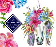Floral Unicorn Graphics / Clipart / Illustrations Product Image 1