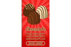 Chocolate concept banner, comics isometric style Product Image 1