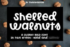 Shelled Walnuts, solid and hollow cuttable font Product Image 1