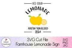 Farmhouse Lemonade Sign SVG l Ice Cold Lemonade Cutfile Product Image 2