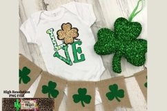 LOVE St Patrick's Day Dye Sublimation PNG Design Product Image 4
