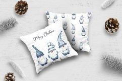 Scandinavian blue navy gnome digital paper Product Image 4