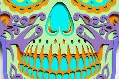 Multilayer Sugar Skull Mandala - S1, for cutting machines Product Image 3