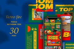 Retro-fire Puzzle Instagram Feed Product Image 1