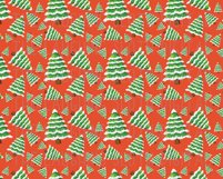 Watercolor Christmas Seamless Digital Papers Set 2 Product Image 2