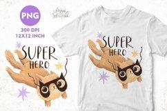Super hero sublimation PNG. Superhero. Cat sublimation Product Image 1