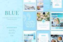 Blue | Pinterest PSD templates pack Product Image 1
