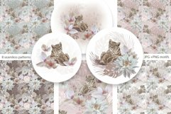 Leopard & flowers seamless patterns Product Image 4