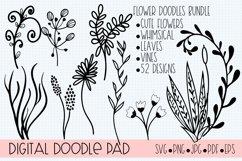 Floral Doodle Bundle Silhouette and Cricut Product Image 6