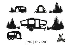 Camping clipart svg file Product Image 1