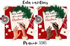 Fashion CHRISTMAS Girl Illustration Product Image 2