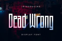 Dead Wrong Font Product Image 1