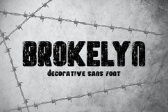 Brokelyn Font Product Image 1