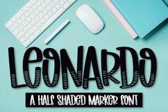 Leonardo - A half shaded marker font Product Image 1