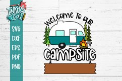 Custom Welcome To Our Campsite Hitch SVG Product Image 2