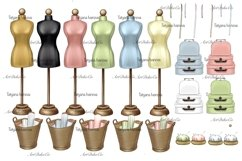 Customizable Seamstress Clipart, Craft Clipart. Product Image 2