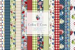 Christmas clipart & Seamless Digital Paper set for crafters Product Image 2