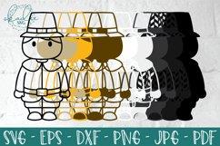 3D Thanksgiving Characters SVG, Papercut Turkey, Pilgrim DXF Product Image 3