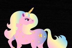 Rainbow Unicorn Clipart Sublimation Print File PNG Product Image 2