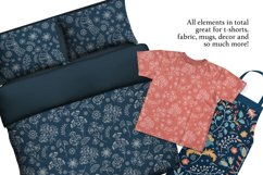 ETHNIC WINTER Folk Ornament Decor Fabric Print Doodle Product Image 5